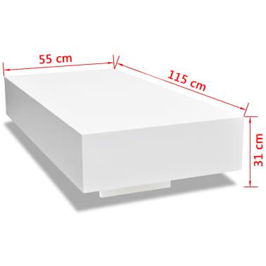 Table basse laquée haute brillance Blanc 115 cm[5/5]