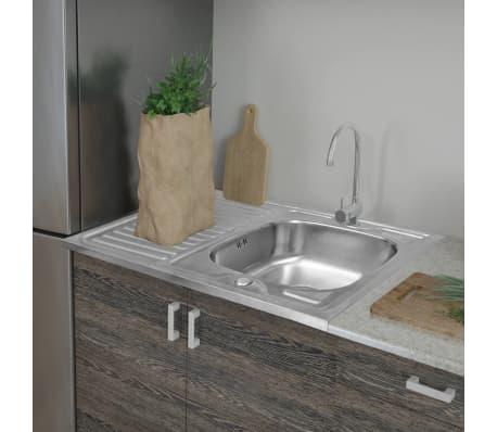 acheter evier de cuisine avec vidange 80 x 60 cm pas cher. Black Bedroom Furniture Sets. Home Design Ideas
