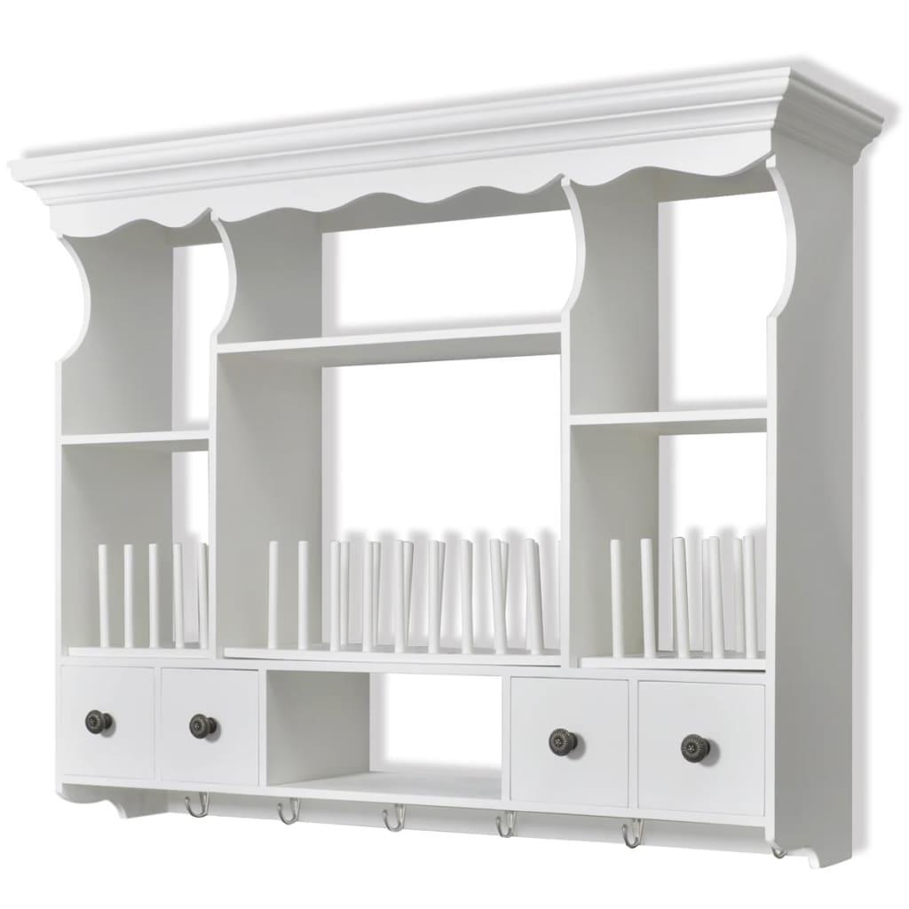 vidaXL Ντουλάπι Κουζίνας Επιτοίχιο Λευκό Ξύλινο