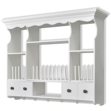vidaXL Wooden Kitchen Wall Cabinet White[2/8]
