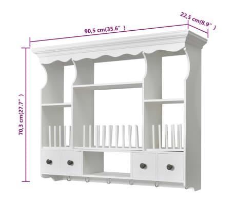 Vidaxl Pensile A Muro Da Cucina In Legno Bianco Vidaxl It
