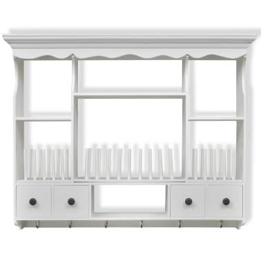 acheter vidaxl armoire murale de cuisine bois blanc pas cher. Black Bedroom Furniture Sets. Home Design Ideas