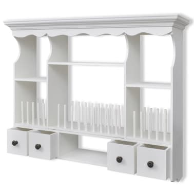 vidaXL Wooden Kitchen Wall Cabinet White[4/8]