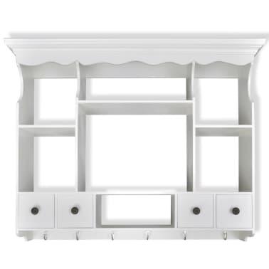 vidaXL Wooden Kitchen Wall Cabinet White[5/8]