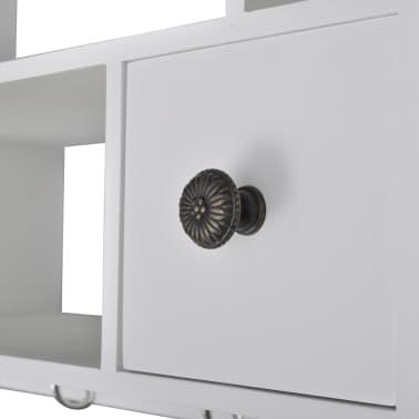 vidaXL Wooden Kitchen Wall Cabinet White[7/8]