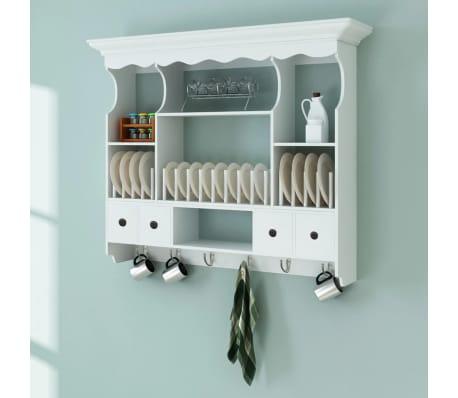 Acheter vidaxl armoire murale de cuisine bois blanc pas for Armoire murale cuisine