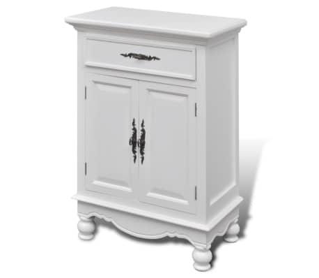 vidaXL Armoire avec 2 portes et 1 tiroir Bois Blanc[2/9]