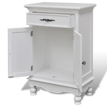 vidaXL Armoire avec 2 portes et 1 tiroir Bois Blanc[4/9]