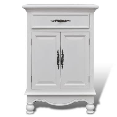 vidaXL Armoire avec 2 portes et 1 tiroir Bois Blanc[5/9]