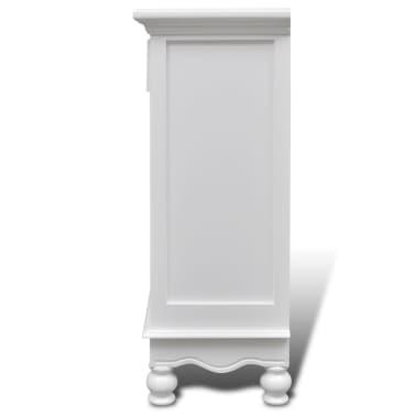 vidaXL Armoire avec 2 portes et 1 tiroir Bois Blanc[6/9]