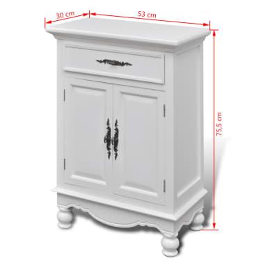 vidaXL Armoire avec 2 portes et 1 tiroir Bois Blanc[9/9]