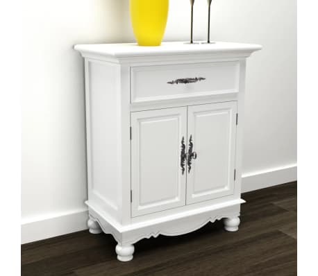 vidaXL Armoire avec 2 portes et 1 tiroir Bois Blanc[1/9]