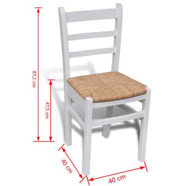 Acheter 4 pcs chaise de salle manger peinture blanche for Chaise blanche solde