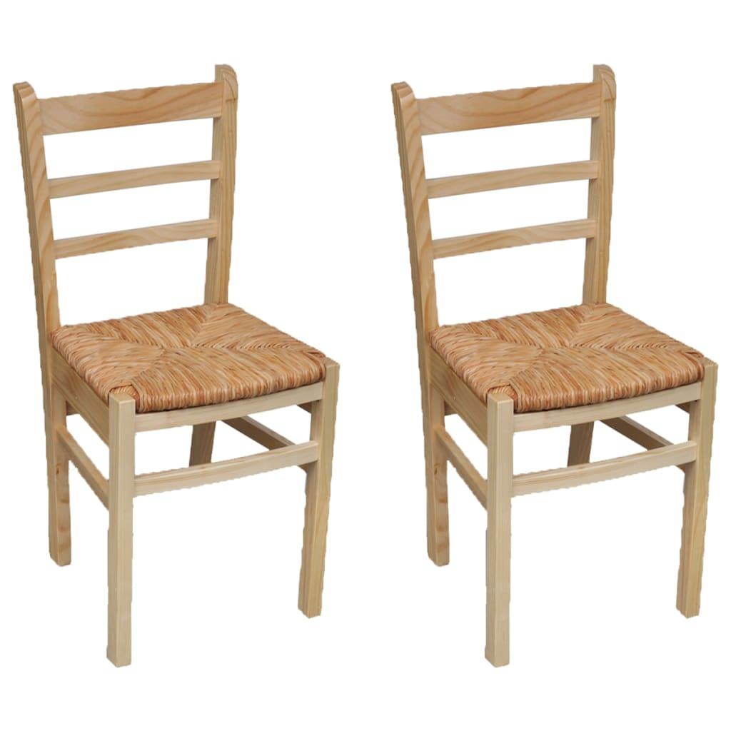 vidaXL Καρέκλες Τραπεζαρίας 2 τεμ. από Ξύλο Πεύκου