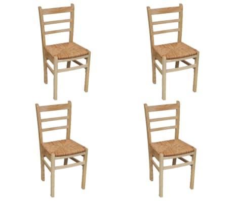 vidaXL Krzesła do jadalni, 4 szt., drewno sosnowe