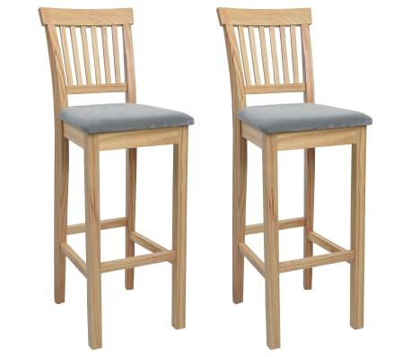 vidaXL Bar Chairs 2 pcs Wood