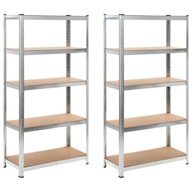 Storage Shelf Silver 2 pcs[1/7]