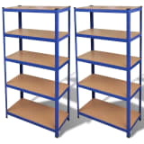 Storage Shelf Blue 2 pcs