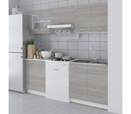 acheter cuisine compl te 5 pi ces aspect ch ne 200 cm pas cher. Black Bedroom Furniture Sets. Home Design Ideas