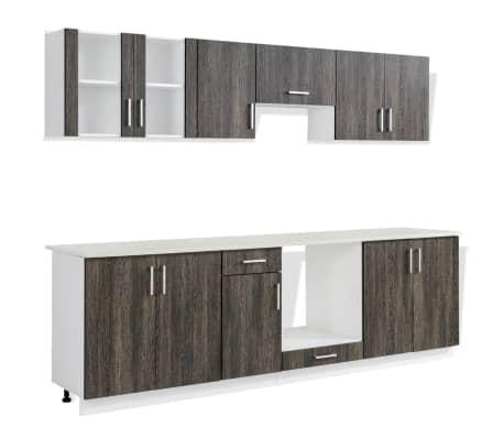 vidaXL Jeu d'armoire de cuisine 8 pcs Wengé[2/4]