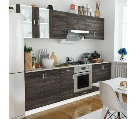 vidaXL Jeu d'armoire de cuisine 8 pcs Wengé[1/4]