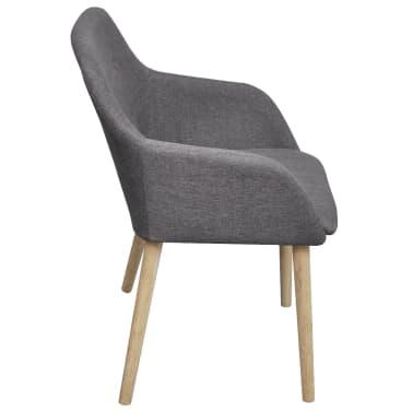 Shop vidaXL spisebordsstole 4 stk. lysegråt stof massivt