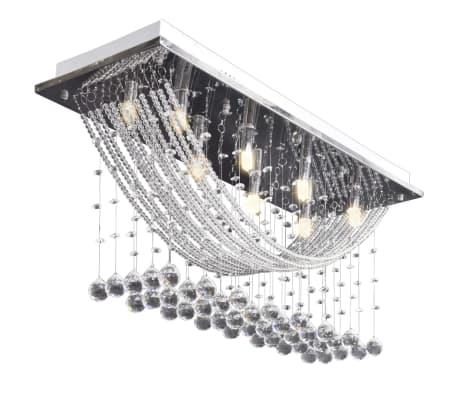 Bílé stropní svítidlo s křišťálovými ověsky, pro 8 žárovek G9, 29 cm[5/11]