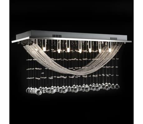 Bílé stropní svítidlo s křišťálovými ověsky, pro 8 žárovek G9, 29 cm[8/11]