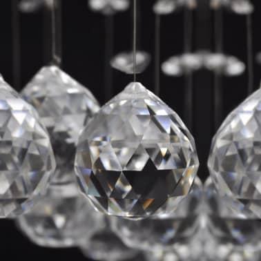 Bílé stropní svítidlo s křišťálovými ověsky, pro 8 žárovek G9, 29 cm[7/11]
