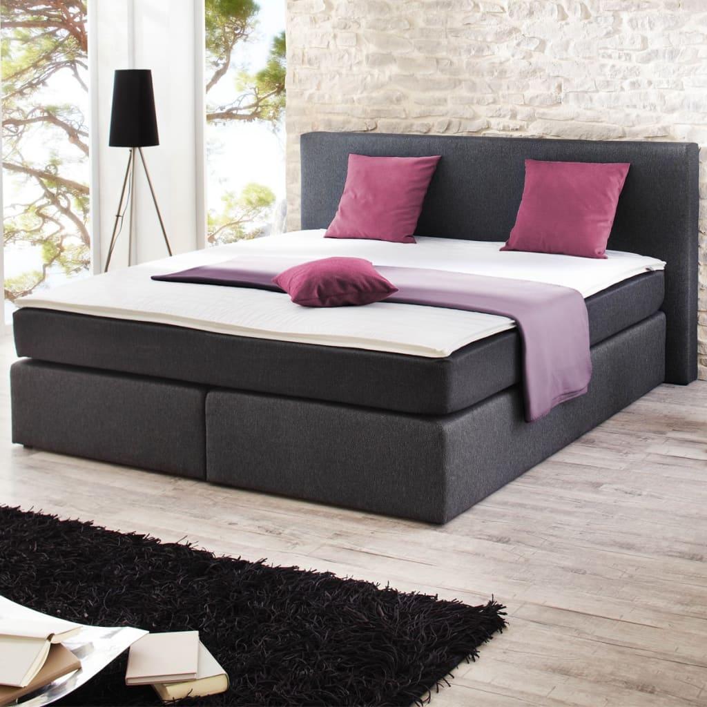 Set kontinentální postele a pružinové matrace 200 x 140 cm