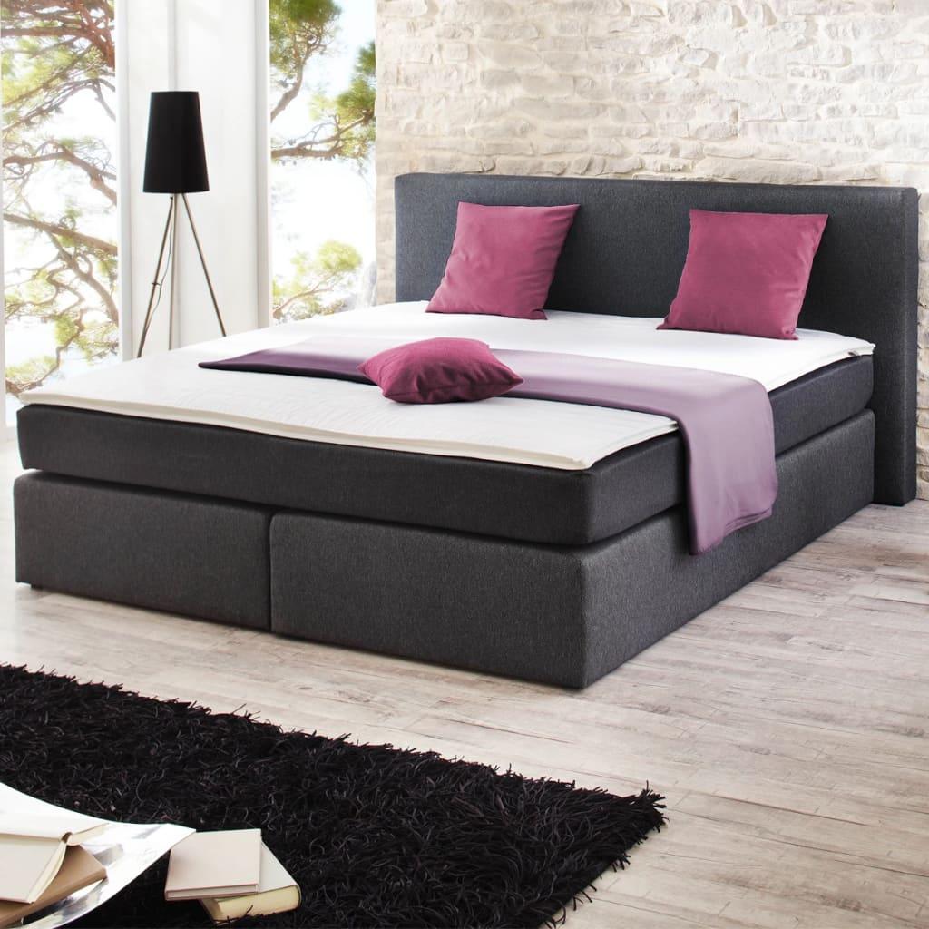 Sada čalouněných postelí s pružinovou matrací 200 x 180 cm