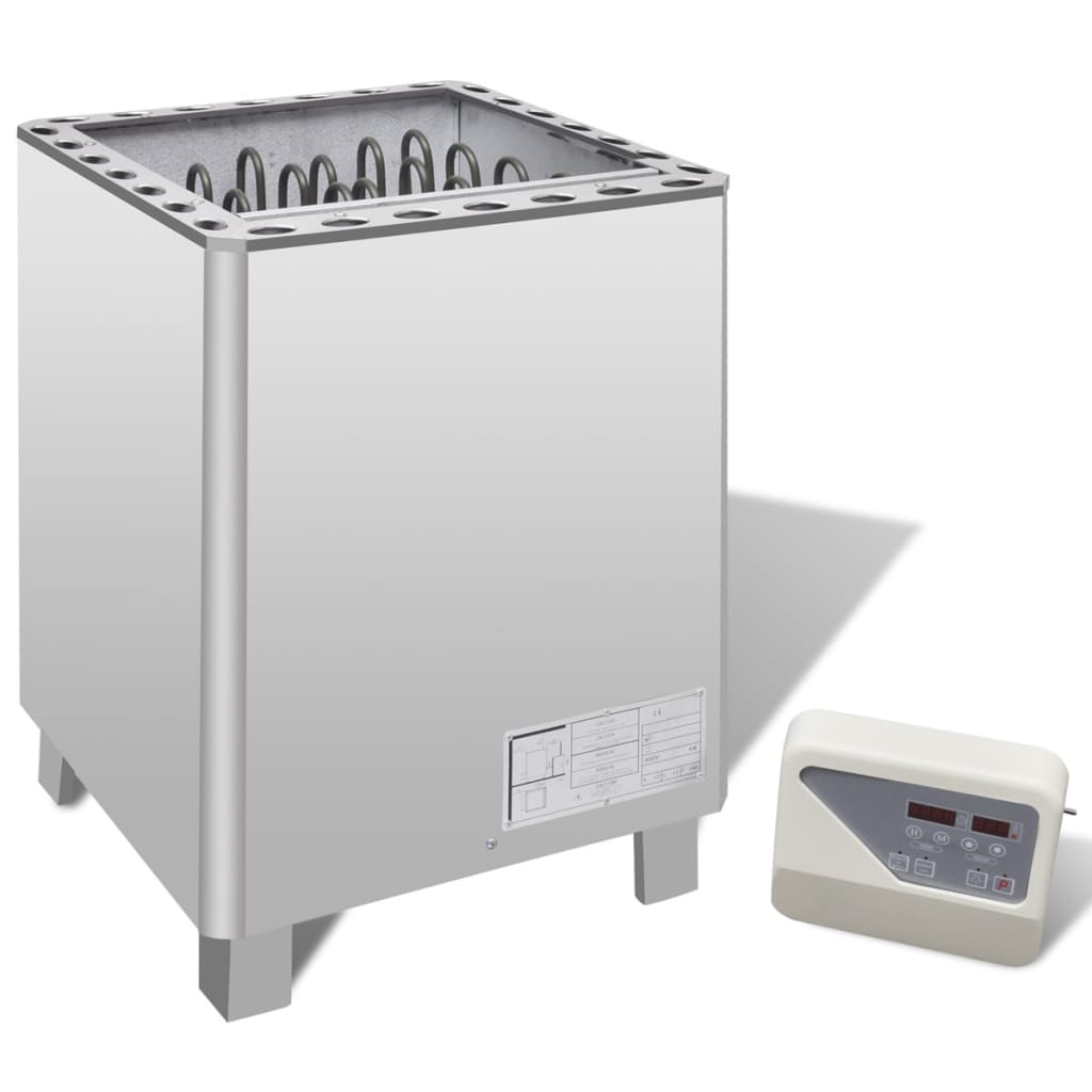 Radiator saună din oțel inoxidabil 12 kW cu panou de control extern poza 2021 vidaXL