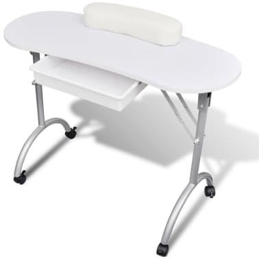 Biały Składany Stolik Na Kółkach Do Manicure Sklep