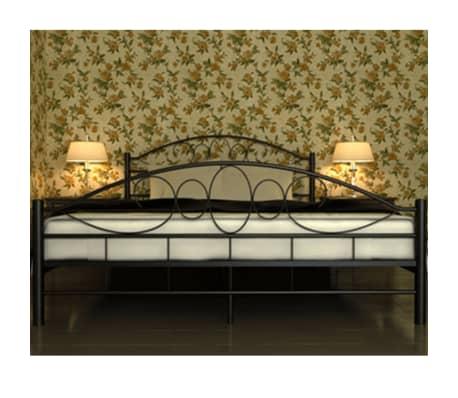 vidaxl bett mit matratze 140 200 cm metall schwarz g nstig kaufen. Black Bedroom Furniture Sets. Home Design Ideas