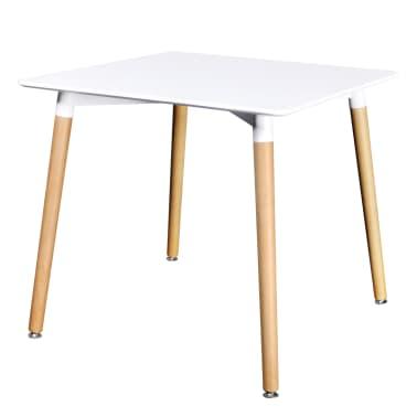 vidaXL Table de salle à manger carrée MDF Blanc[1/4]
