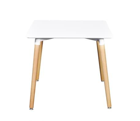vidaXL Table de salle à manger carrée MDF Blanc[2/4]