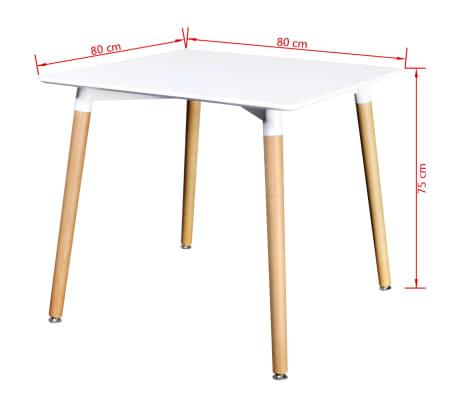 vidaXL Table de salle à manger carrée MDF Blanc[4/4]
