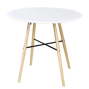 Matně bílý kulatý obdélníkový jídelní stůl[1/3]