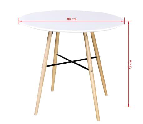 Vidaxl tavolo da pranzo in mdf rotondo bianco for Tavolo rotondo da pranzo