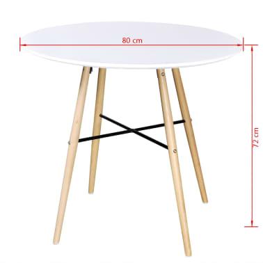 Matně bílý kulatý obdélníkový jídelní stůl[3/3]