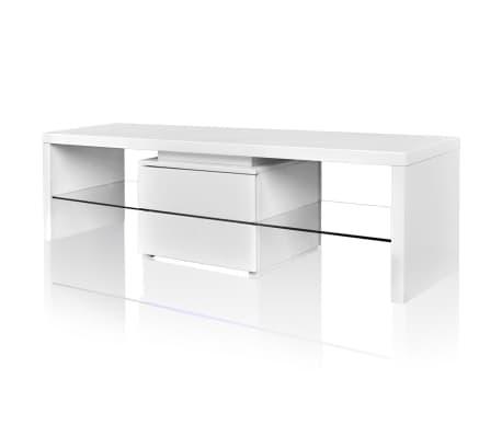 tv tisch hochglanz wei mit leds 150 cm g nstig kaufen. Black Bedroom Furniture Sets. Home Design Ideas