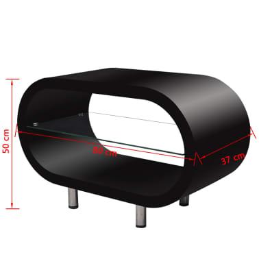 tv tisch wohnzimmertisch oval schwarz hochglanz g nstig. Black Bedroom Furniture Sets. Home Design Ideas