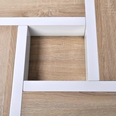 vidaXL Table basse MDF et aspect de chêne Blanc haute brillance[4/5]