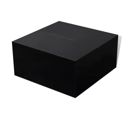 vidaXL Coffee Table with Storage High Gloss Black[3/6]