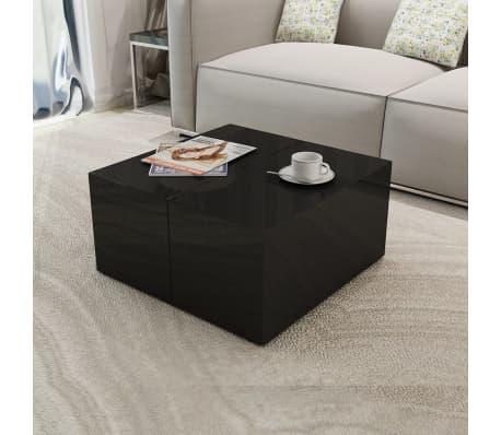 vidaXL Coffee Table with Storage High Gloss Black[1/6]