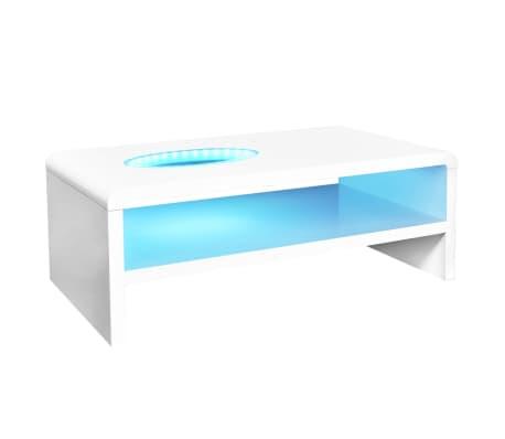vidaxl kaffeetisch couchtisch beistelltisch tisch mit led licht hochglanz wei ebay. Black Bedroom Furniture Sets. Home Design Ideas