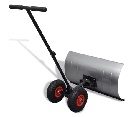 Manual Snow Shovel with Wheels[3/5]
