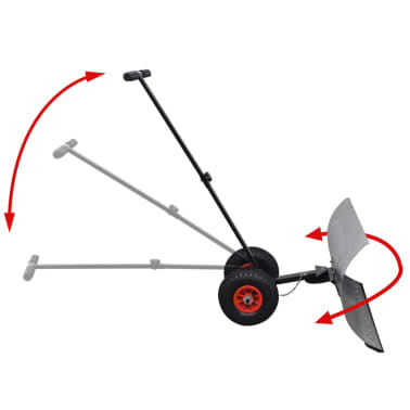 Manual Snow Shovel with Wheels[2/5]