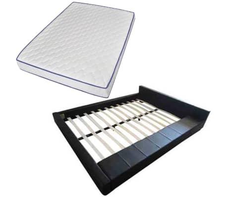 bett kunstlederbett 140 x 200 cm memory schaum matratze zum schn ppchenpreis. Black Bedroom Furniture Sets. Home Design Ideas