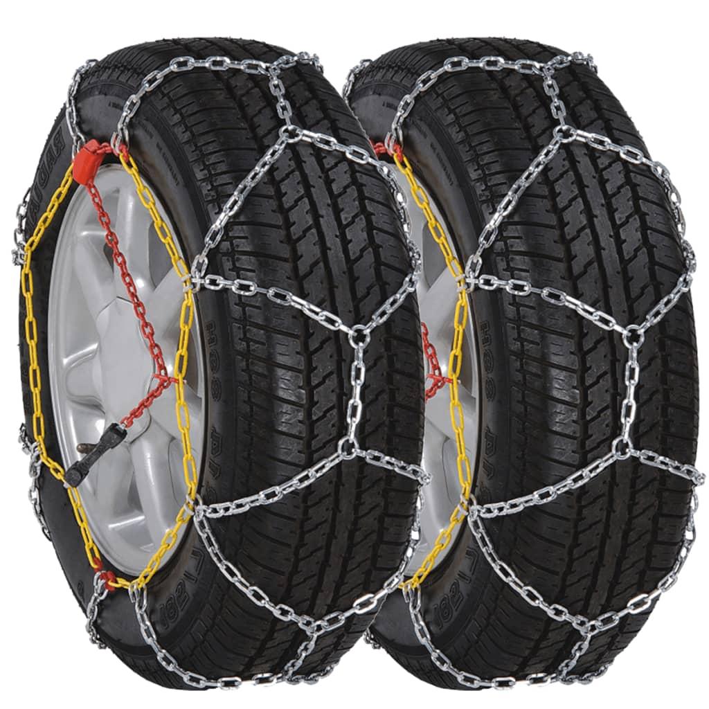 2 ks Sněhové řetězy na pneumatiky aut, 12 mm KN 80